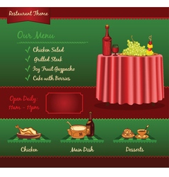Restaurant template for web site vector image