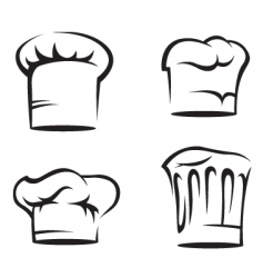 set of chef hats vector image vector image