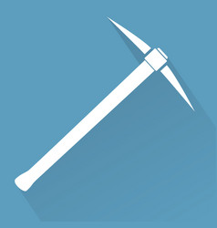 Silhouette of pickaxe vector
