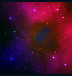 Space galaxy background realistic vector
