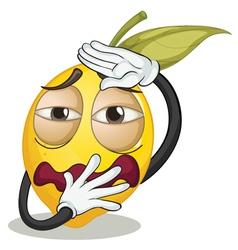 a yellow lemon vector image
