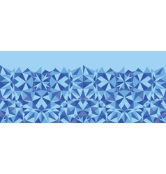 Blue triangle texture horizontal seamless pattern vector image