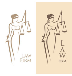 lady justice law vector image