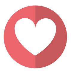 love heart romantic symbol shadow vector image