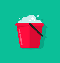 Bucket of water icon isolated flat cartoon vector