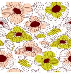 Springtime floral seamless pattern vector