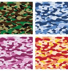 Camouflage patterns vector