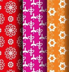 Flower retro style pattern vector