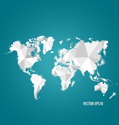 Modern world map design vector