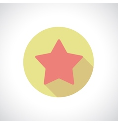 Star icon with shadow vector