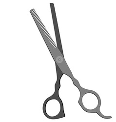 Grey scissors vector