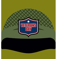 Patriot day emblem on soldiers helmet military vector