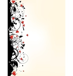 Picture of heart with floral ornamental vector