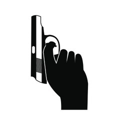 Starting pistol black simple icon vector
