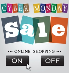 Cyber monday design eps10 cyber monday graphic vector