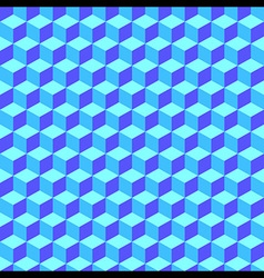 Blue geometric volume seamless pattern background vector