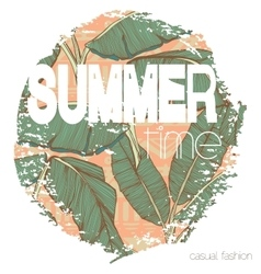 Vintage tropical exotic summer print for t-shirt vector