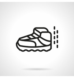 Sport footwear simple line icon vector