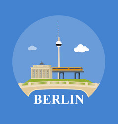 abstract skyline of city berlin vector image vector image