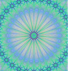 Abstract star mandala fractal background vector