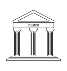 ancient greek building icon line design vector image