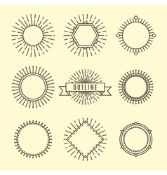 Black outline labels vector image vector image
