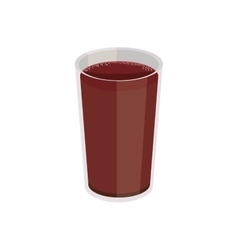 Breakfast plastic cup with drink vector