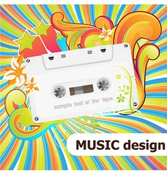 Cassette Design vector image