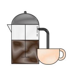 Coffe time design vector