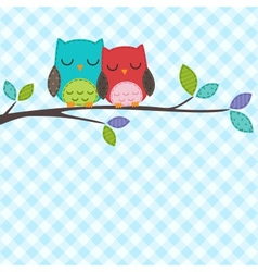 couple of owls vector image vector image