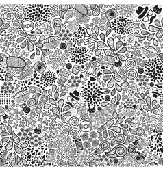 Cute cartoon doodle hipster seamless pattern vector image vector image