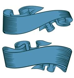 decorative ribbon vector image vector image