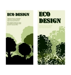 Eco design banners with forest vector image vector image