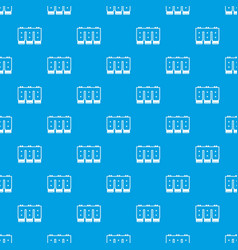 electronic circuit board pattern seamless blue vector image