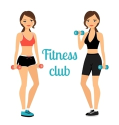 Fitness club advertising banner template vector