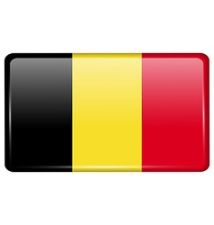 Flags Belgium in the form of a magnet on vector image vector image