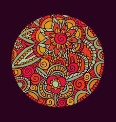 flower mandala art nature decoration vector image