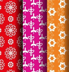 flower retro style pattern vector image