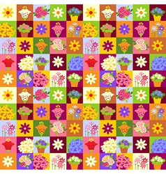 Flower shop pattern vector image vector image