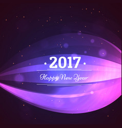 Happy new year 2017 greeting card design with vector