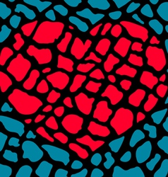 heart broken parts vector image vector image