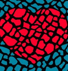 heart broken parts vector image
