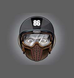 Helmet antiknock helmet motorcycle big bike vector