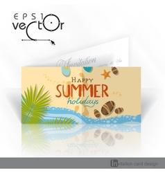 Invitation Card Design Template vector image vector image