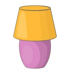 Night lamp icon cartoon style vector