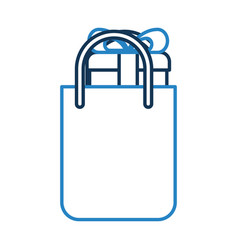 Shopping bag with gift vector