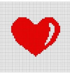 Sign pixel heart in grid 706 vector image vector image