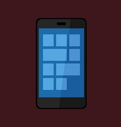 Smartphone icon isolated on dark background vector image