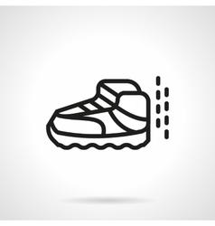 Sport footwear simple line icon vector image