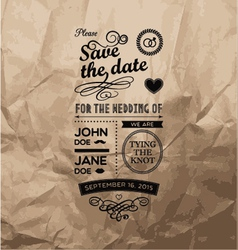 Wedding stamps paper vector image